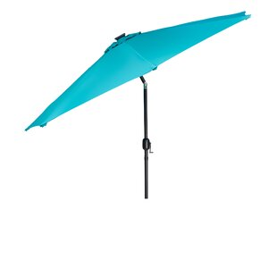 Winston Porter Kaczmarek Solar LED Patio 7' Market Umbrella