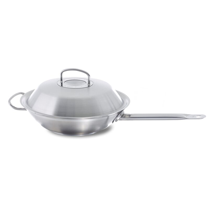 Fissler Original Profi 14 Stainless Steel Wok With Lid Wayfair