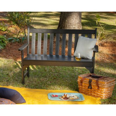 Strange Polywood Vineyard Plastic Garden Bench Size 60 Inch Color Black Bralicious Painted Fabric Chair Ideas Braliciousco