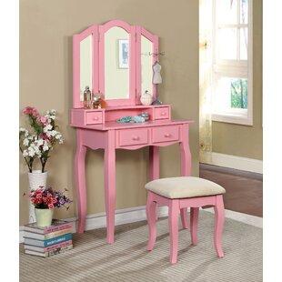 Compare prices Bridgeforth Vanity Set with Mirror ByHarriet Bee