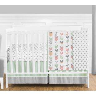 Affordable Mod Arrow 4 Piece Crib Bedding Set BySweet Jojo Designs