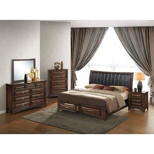 Roundhill Furniture Broval King Platform 5 Piece Bedroom Set