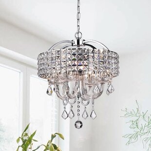 Barkell 4-Light Crystal Chandelier by House of Hampton