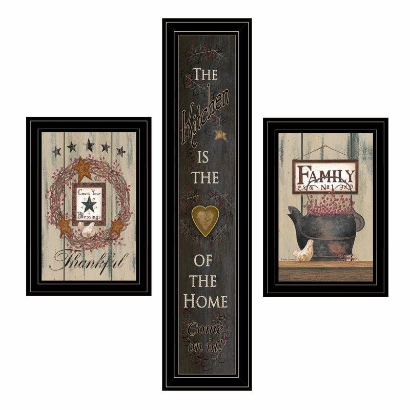 August Grove The Primitive Kitchen Vignette 3 Piece Picture Frame Graphic Art Print Set On Paper Wayfair