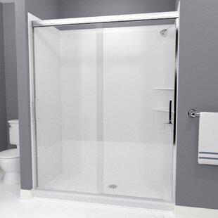 Arizona Shower Door Tombstone Bypass Semi-Frameless Shower Door
