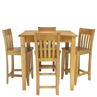 Weingartner 5 Piece Pub Table Set Red Barrel Studio