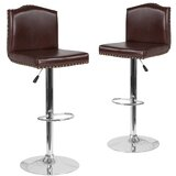 Bellagio Swivel Adjustable Height Bar Stool (Set of 2) by Winston Porter