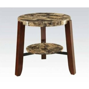 Krystal Wooden End Table by Millwood Pines