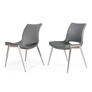 Supriya Upholstered Side Chair In Gray (Set Of 2) By Brayden Studio