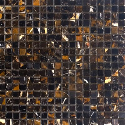 063 x 063 Marble Mosaic Tile Epoch Color Brown