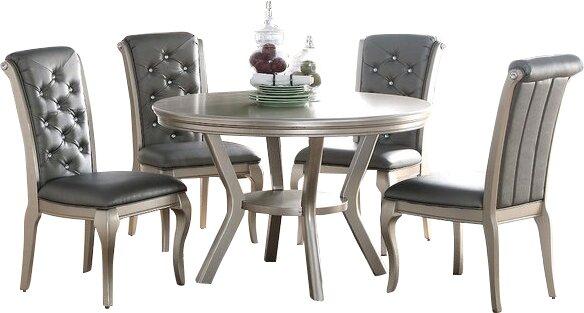 Default nameInfini Furnishings Adele 5 Piece Dining Set   Reviews   Wayfair. Gray Dining Sets. Home Design Ideas