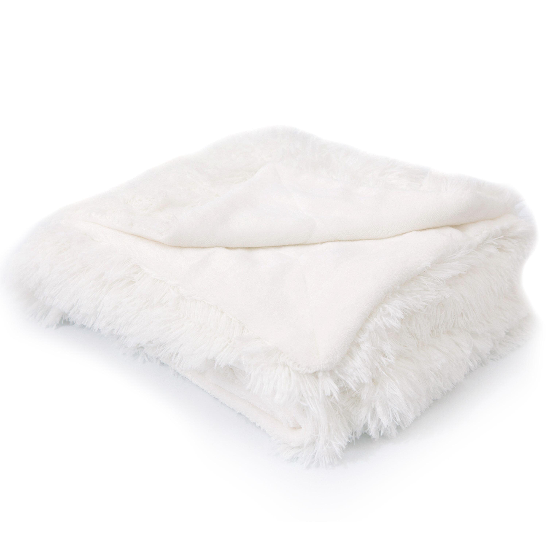 Faux Fur White Blankets Throws You Ll Love In 2021 Wayfair
