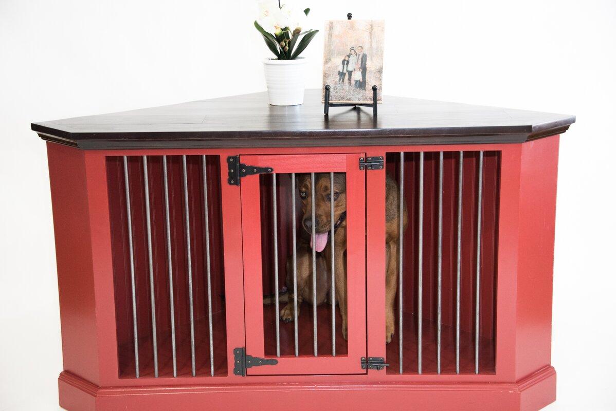 Arthur Corner Credenza Dog Crate