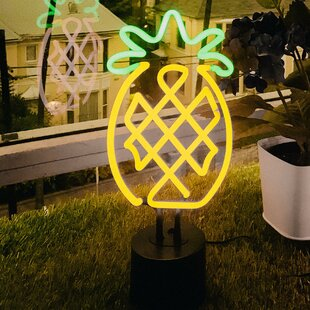 Pineapple Neon Table Lamp By Wrought Studio