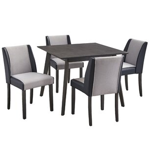 Beckley 5 Piece Solid Wood Dining Set George Oliver