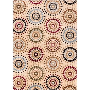 Barclay Orchid Ivory Fields Dots Area Rug