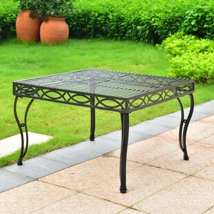 Oak Bluffs Iron Square Coffee Table
