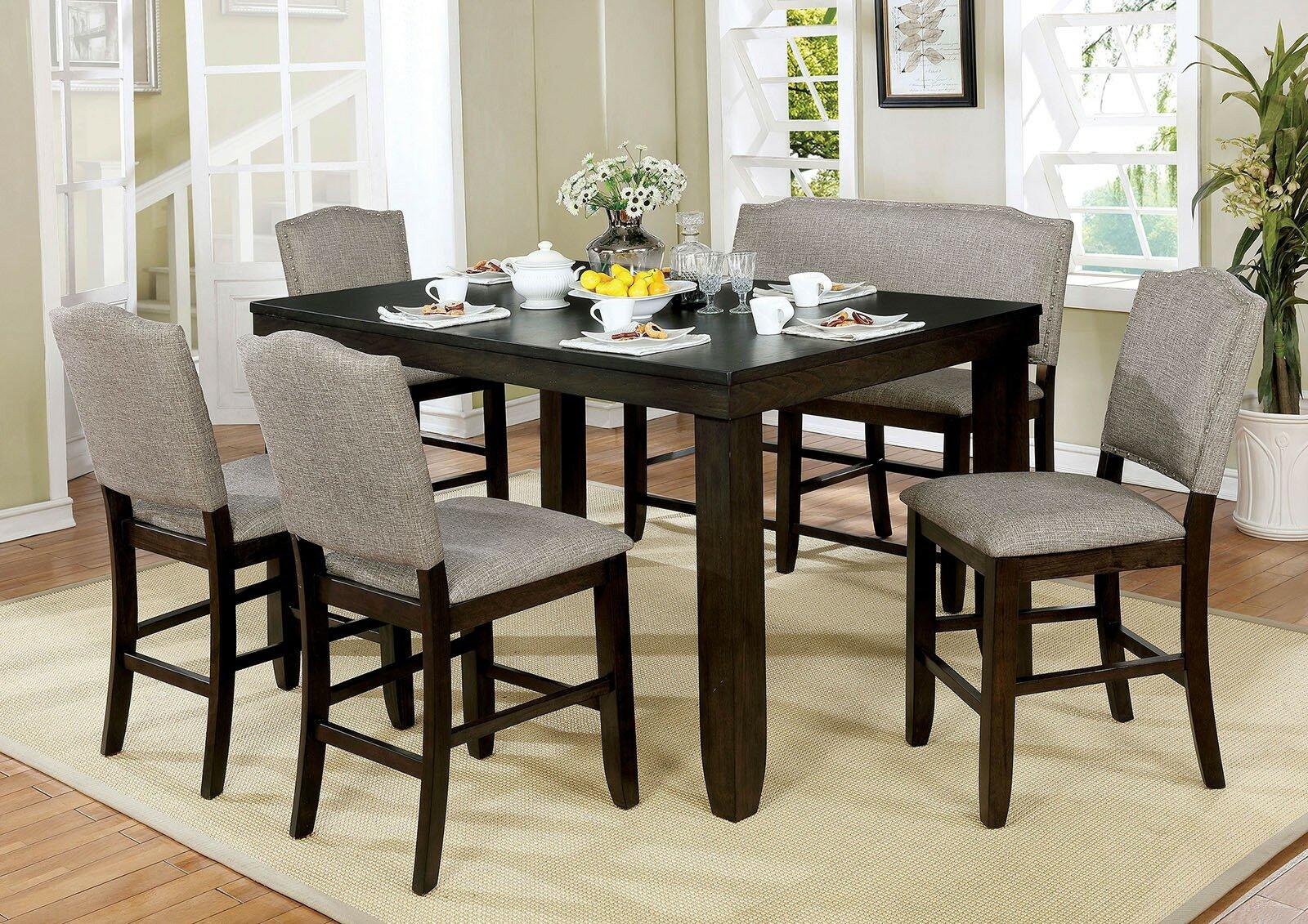 Canora Grey Len 6 Piece Drop Leaf Breakfast Nook Dining Set | Wayfair