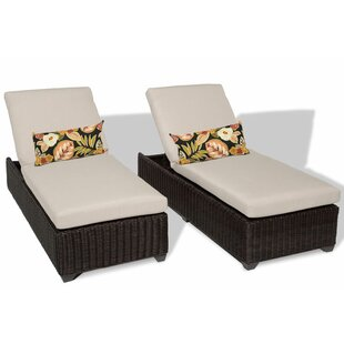 Rosecliff Heights Eldredge Chaise Lounge with Cushion (Set of 2)