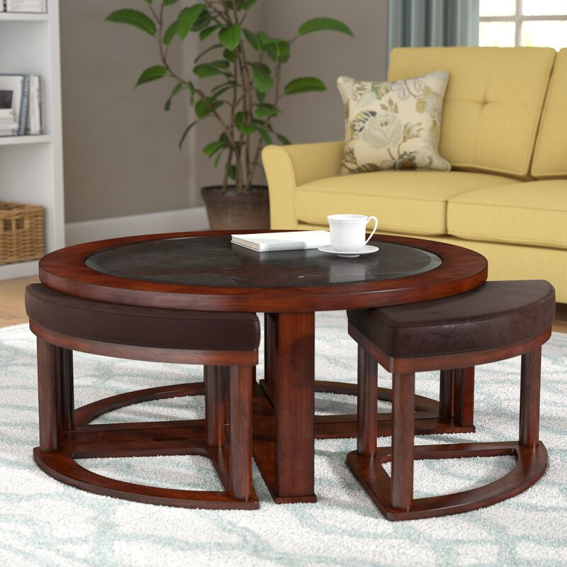 Perfect Eastin Coffee Table With Nested Stools