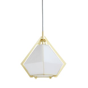 Sabastian Metal and Glass 1-Light Mini Pendant