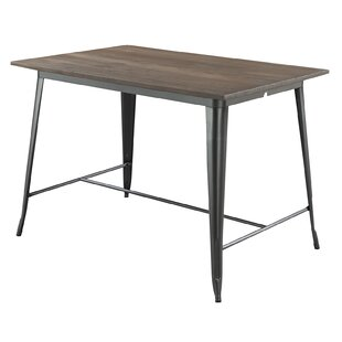 Affordable Freida Wooden and Metal Frame Counter Height Dining Table By Williston Forge