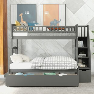 Renville Twin over Full Bunk Bed with Shelves and 2 Drawers
