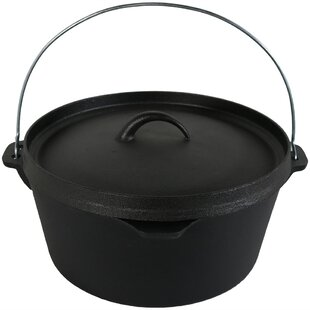 Nolia 8 Qt Cast Iron Round Dutch Oven