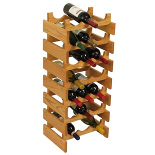 Dakota 21 Bottle Floor Wine Rack by Woode..