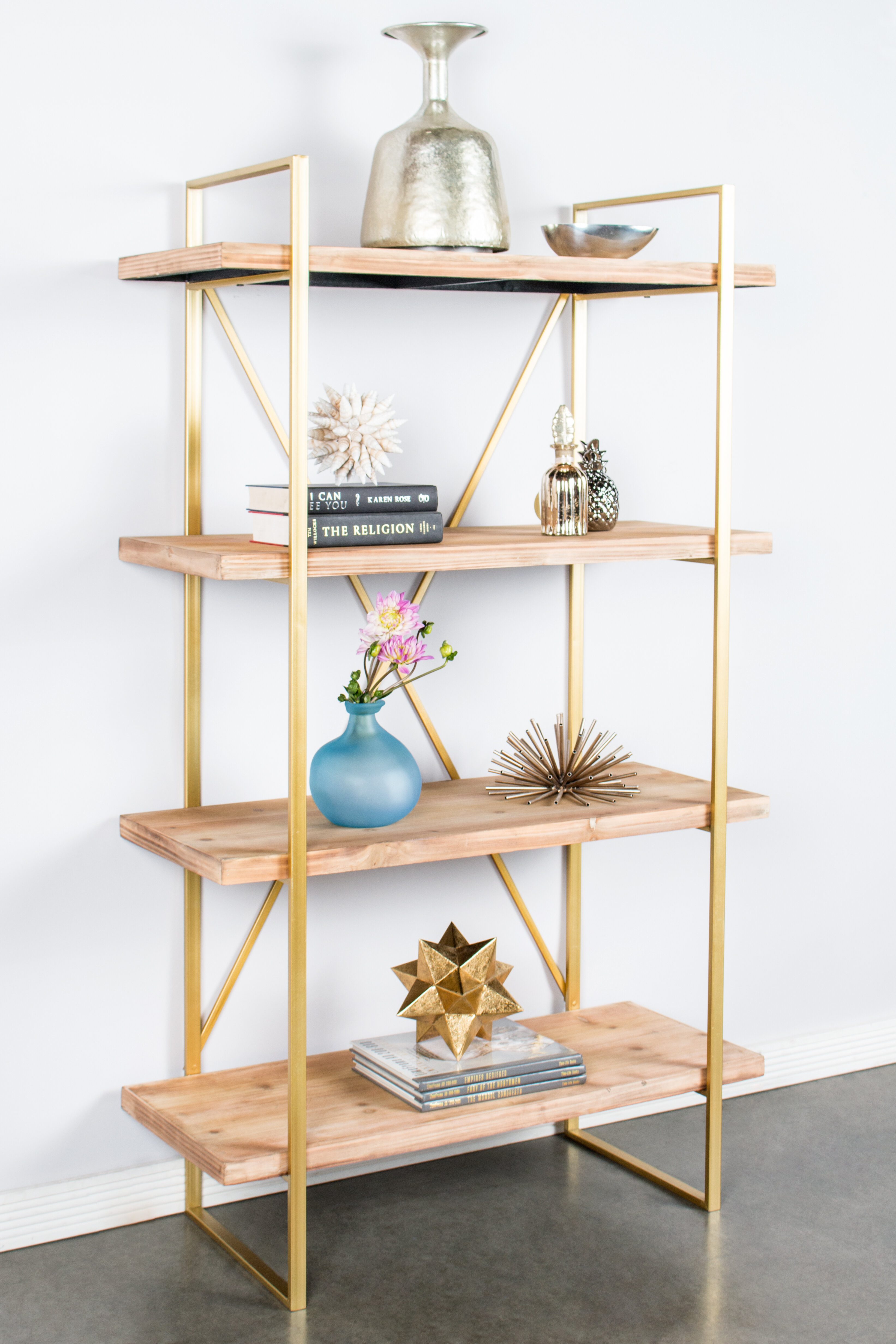 contemporary bookcase bookcases walnut metal tier organizer products black antique or wood frame shelf storage