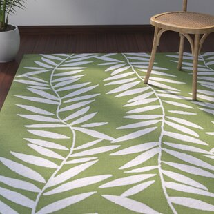 Wallingford Hand Hooked Lime/White Indoor/Outdoor Area Rug by Bay Isle Home