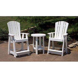 Patricia Plastic Adirondack Chair Set with Table by Rosecliff Heights