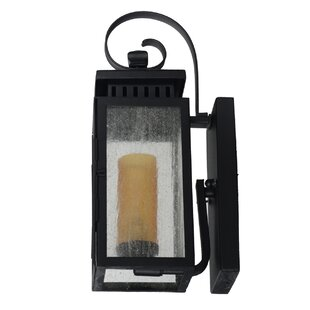 Sharpsville 1-Light Mud Black Outdoor Wall Lantern