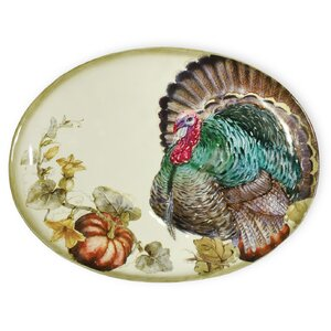 Watercolor Harvest Oval Platter