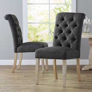 Pompon Upholstered Dining Chair (Set Of 2) by Lark Manor Looking for