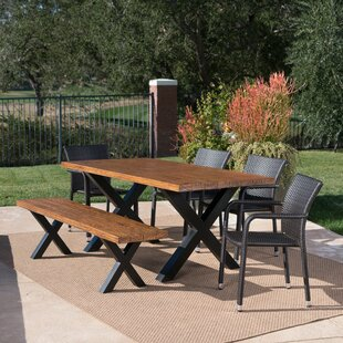 Riemer Outdoor 6 Piece Dining Set