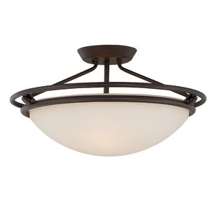 Red Barrel Studio Woolforlk 3-Light Semi Flush Mount