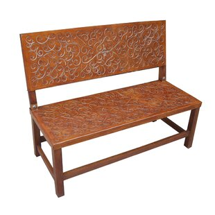Sevilla Leather Bench by New World Trading