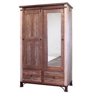 Loon Peak Rizer Mirror 1 Door Armoire