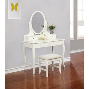 Alcott Hill Ambrosia Vanity Set with Mirror
