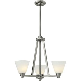 Piscitelli 3-Light Shaded Chandelier by Latitude Run