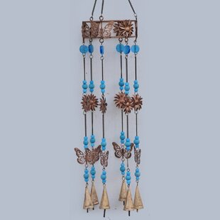 Linus Butterfly And Flower Windchime By Sol 72 Outdoor