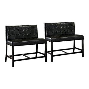 tajana tajana wood corner bench set of 2
