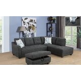 Gastonville Sectional with Ottoman by Latitude Run®