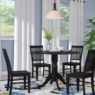 Spruill 5 Piece Drop Leaf Solid Wood Wood Dining Set August Grove