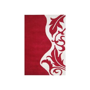 Compare prices Hand-Tufted Red Area Rug By The Conestoga Trading Co.