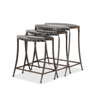 Michael Amini Discoveries 3 Piece Nesting Tables