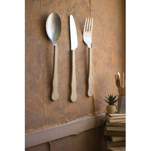 3 Piece Knife Fork And Spoon Wall Décor Set