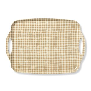 Melamine Serving Tray, Gingham