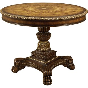 Handcarved Aged Regency Dining Table by Maitland-Smith